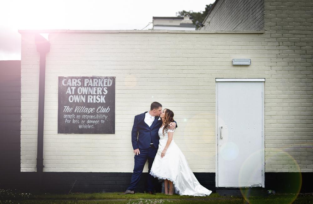 Bride, Groom, Car Park