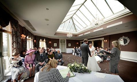 Wedding ceremony, Hollin Hall
