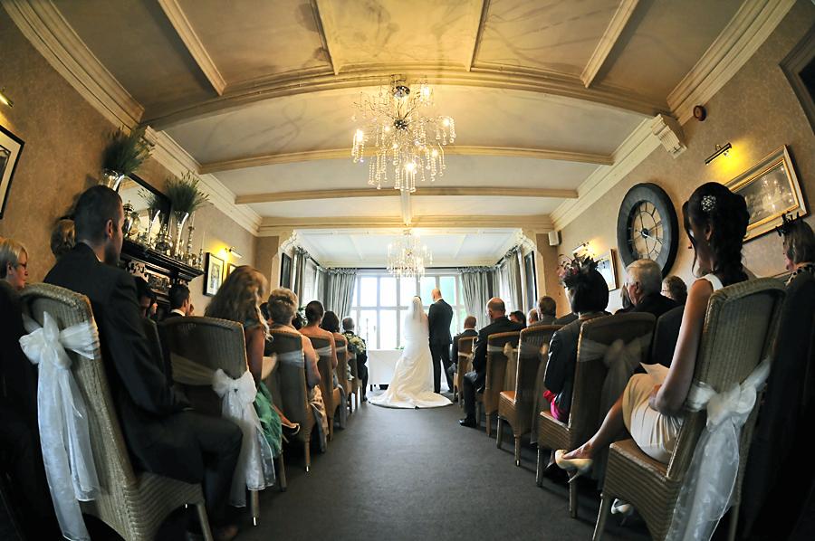 Bride, wedding ceremony, Mitton Hall