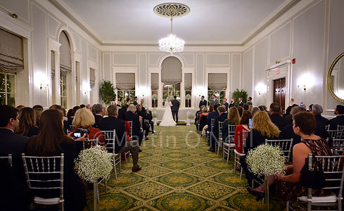 Bride, groom, wedding ceremony, hotel