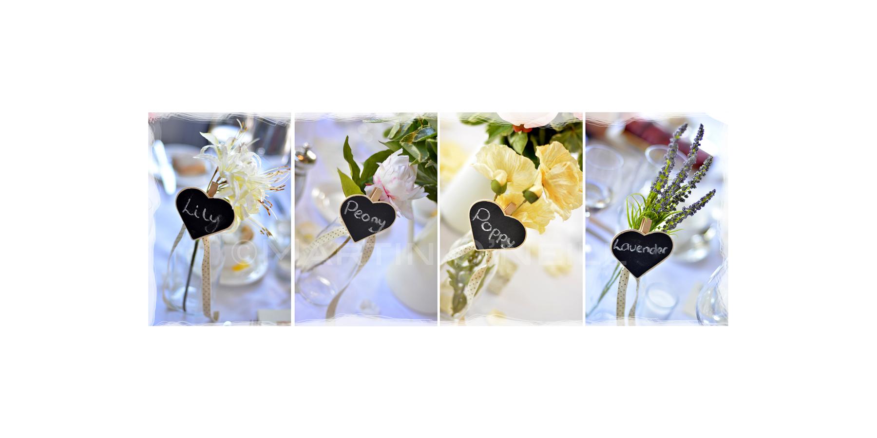 Flowers, table-plan