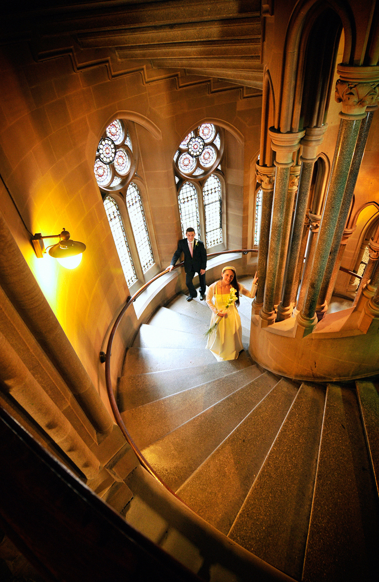 Bride, groom, Manchester Town Hall