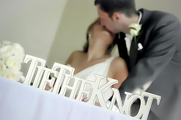 Tie the knot sign, bride, wedding