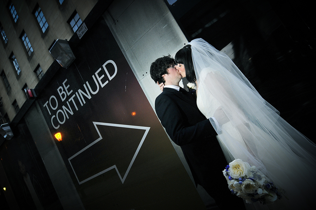 To be continued sign, Bride, Groom