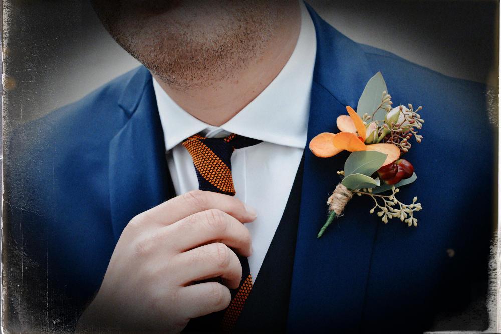 Groom's buttonhole, wedding