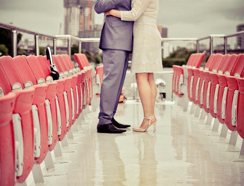 bride, groom, kiss, boat, Ship Canal