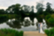 bride, groom, lake, Styal Lodge