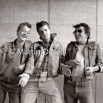 Three 'Teddy Boys' in Eccles
