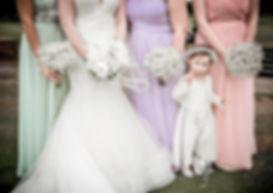 bridesmaids, wedding, flower girl