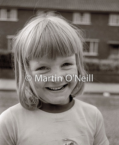 A young girl on an Eccles street