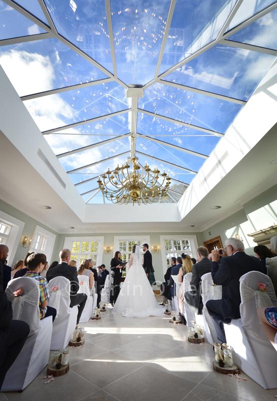 Orangery, wedding venue, blue sky