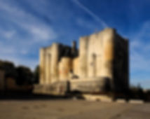 Castle, Niort, blue sky