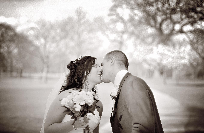 Bride, groom, Mere Golf Resort