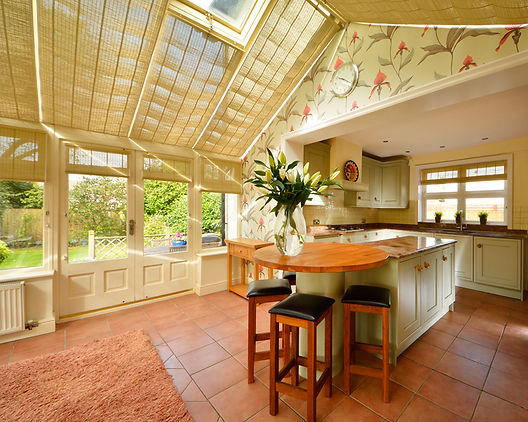 conservatory leading into kitchen