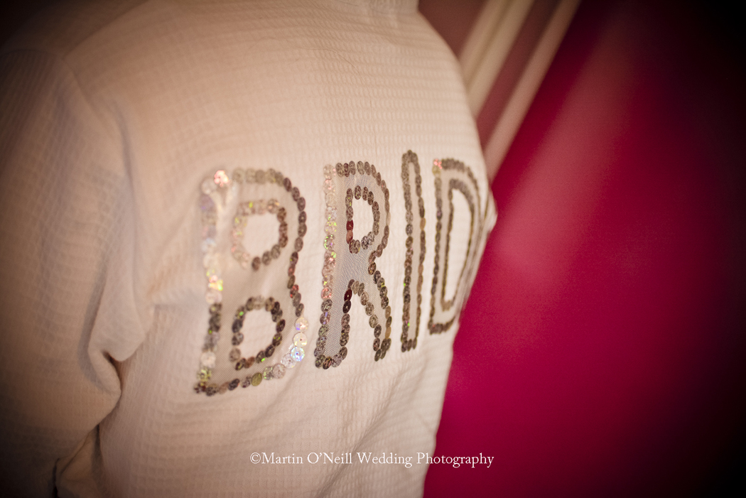 Bride, dressing gown