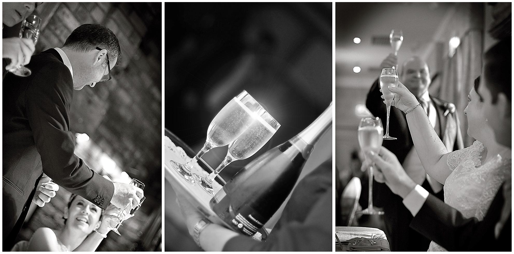 Champagne toasts, Wedding