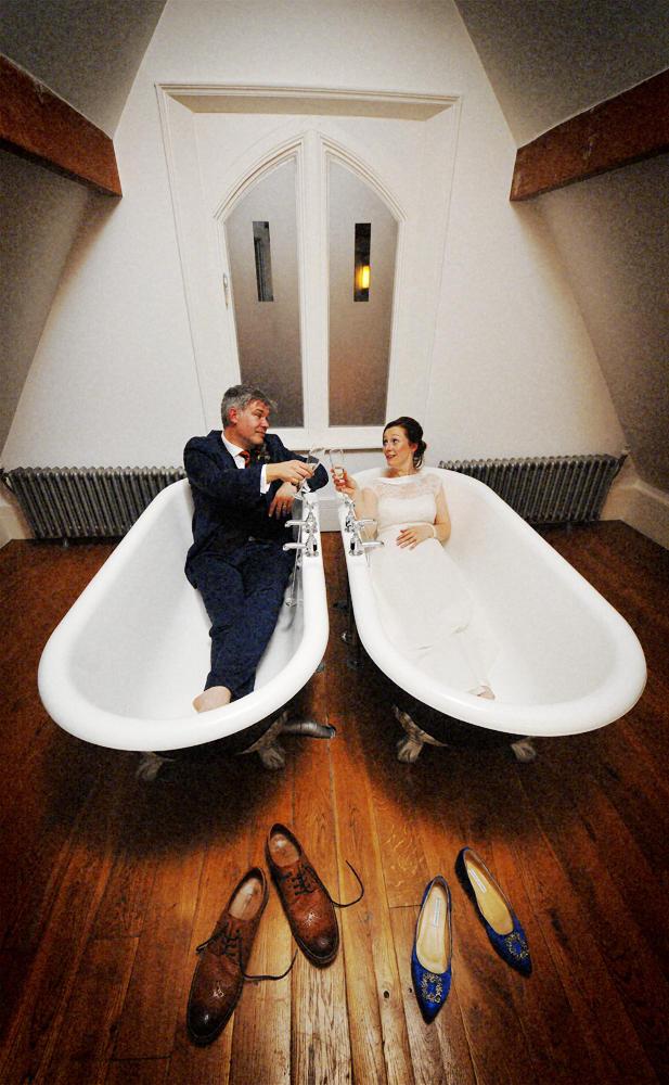 Couple in bath-tubs, Didsbury