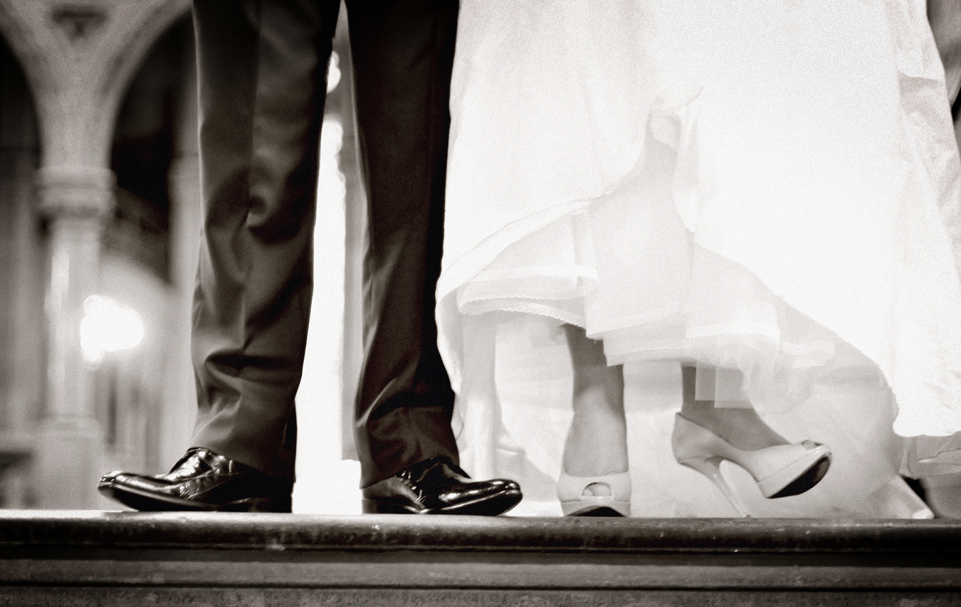 Bride & Groom's shoes, Manchester