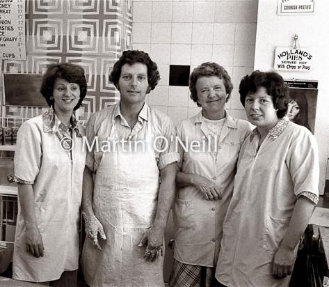 Chip shop staff, Eccles