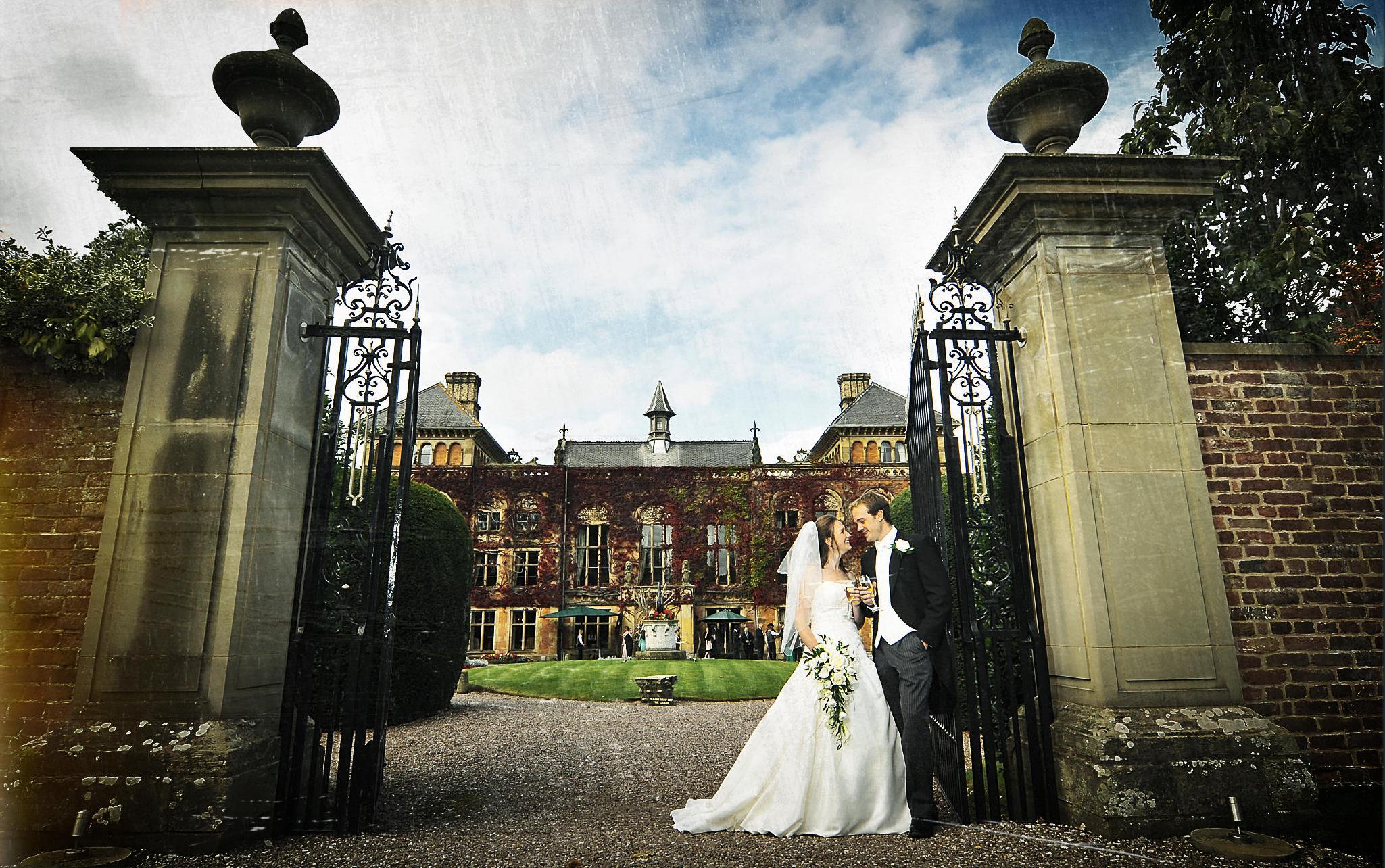 Bride, groom, Cheshire hotel