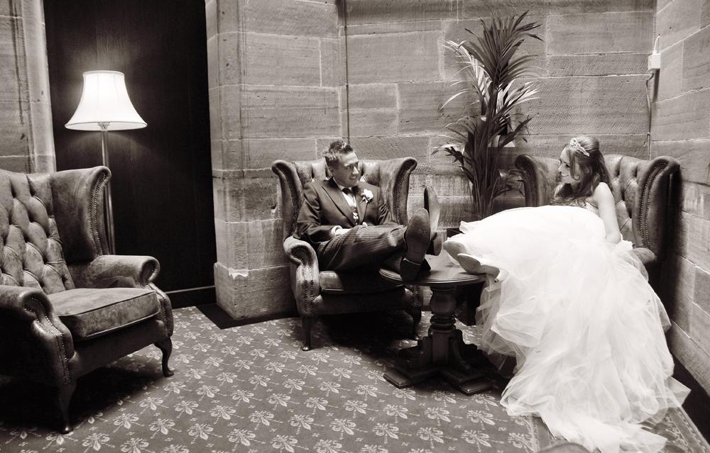 Groom, Bride, Peckforton Castle