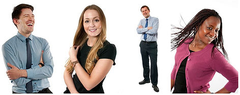 People pose for corporate and web-site portraits