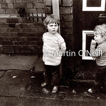 Young boys on a Salford street