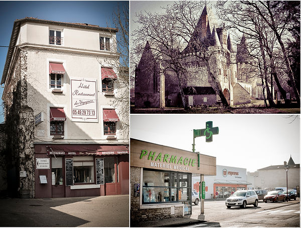 restaurant, pharmacy, supermarket, chateau