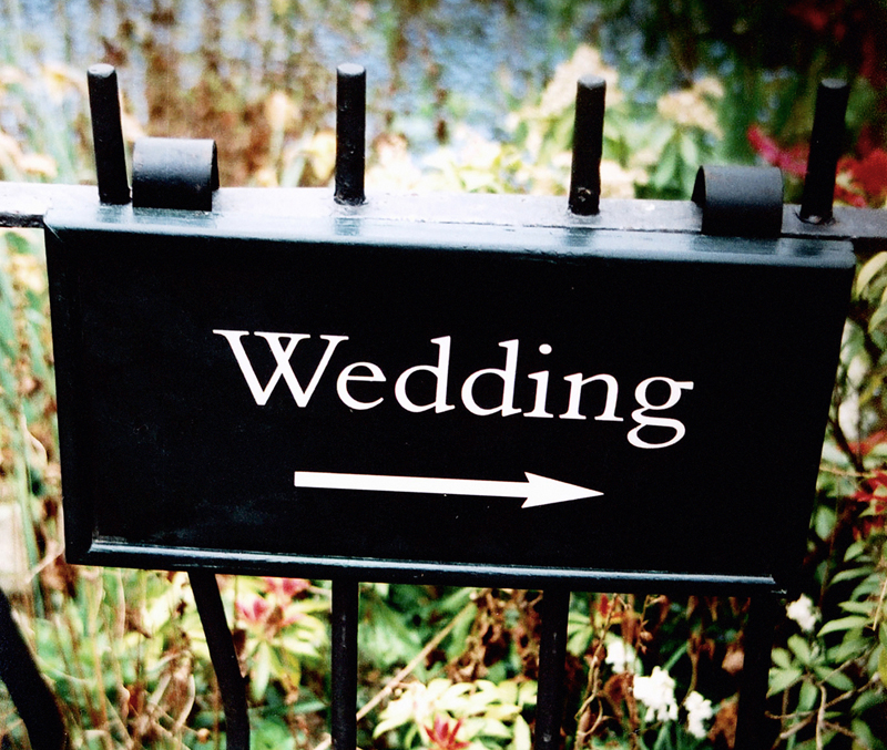 Wedding Sign, Quarry Bank Mill Mill