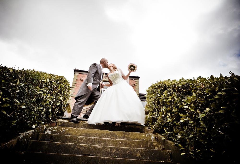 Bride, groom, Ashfield House Hotel