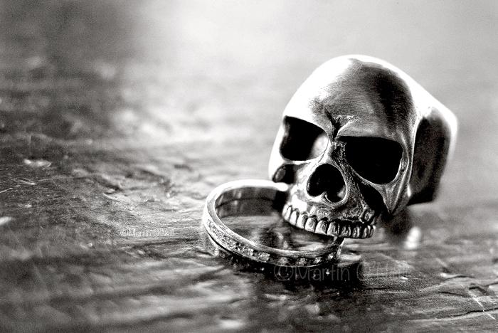 Skull Wedding ring, Eccles