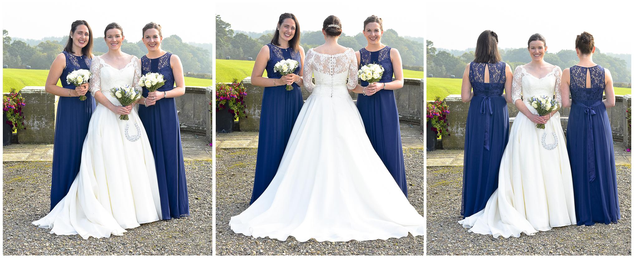 Bride, bridesmaids, Willington Hall
