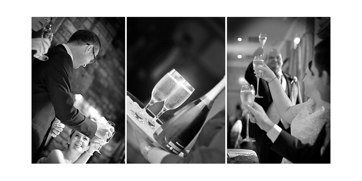 champagne, wine, wedding toast