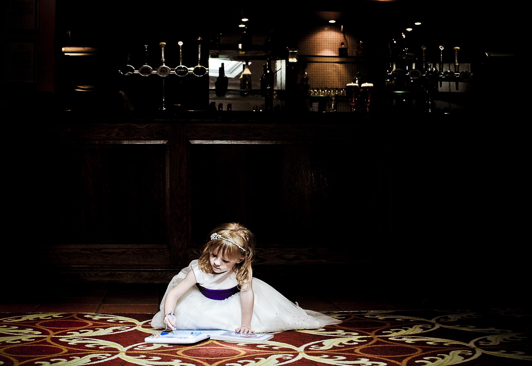 Bridesmaid on the floor