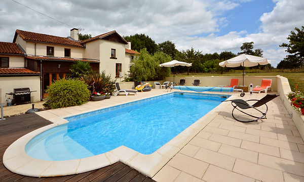 Swimming pool at French gîte