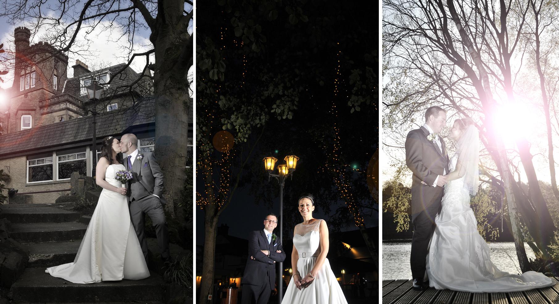Three wedding images