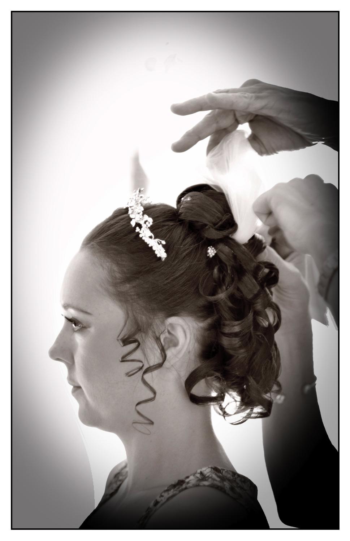 Hair and make up, bride