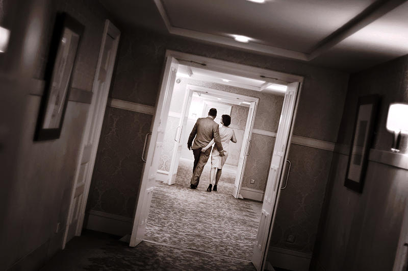 Wedding couple, hotel