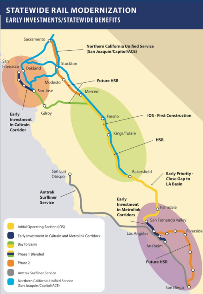 High Speed Rail map