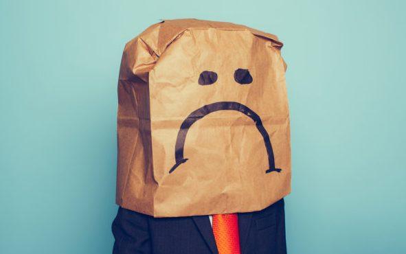 Sad bag head