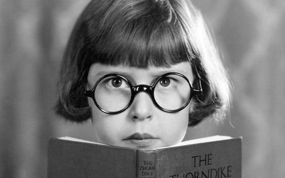 peering-over-book