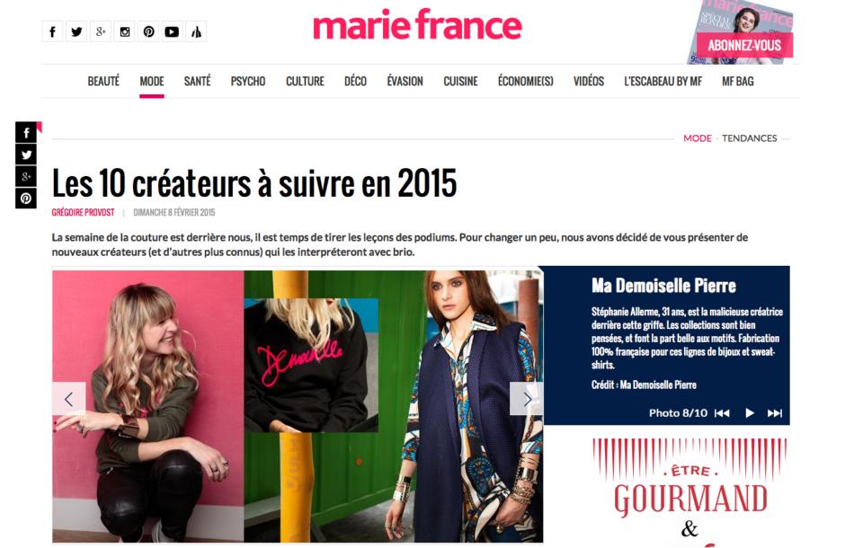 MARIE FRANCE 2015