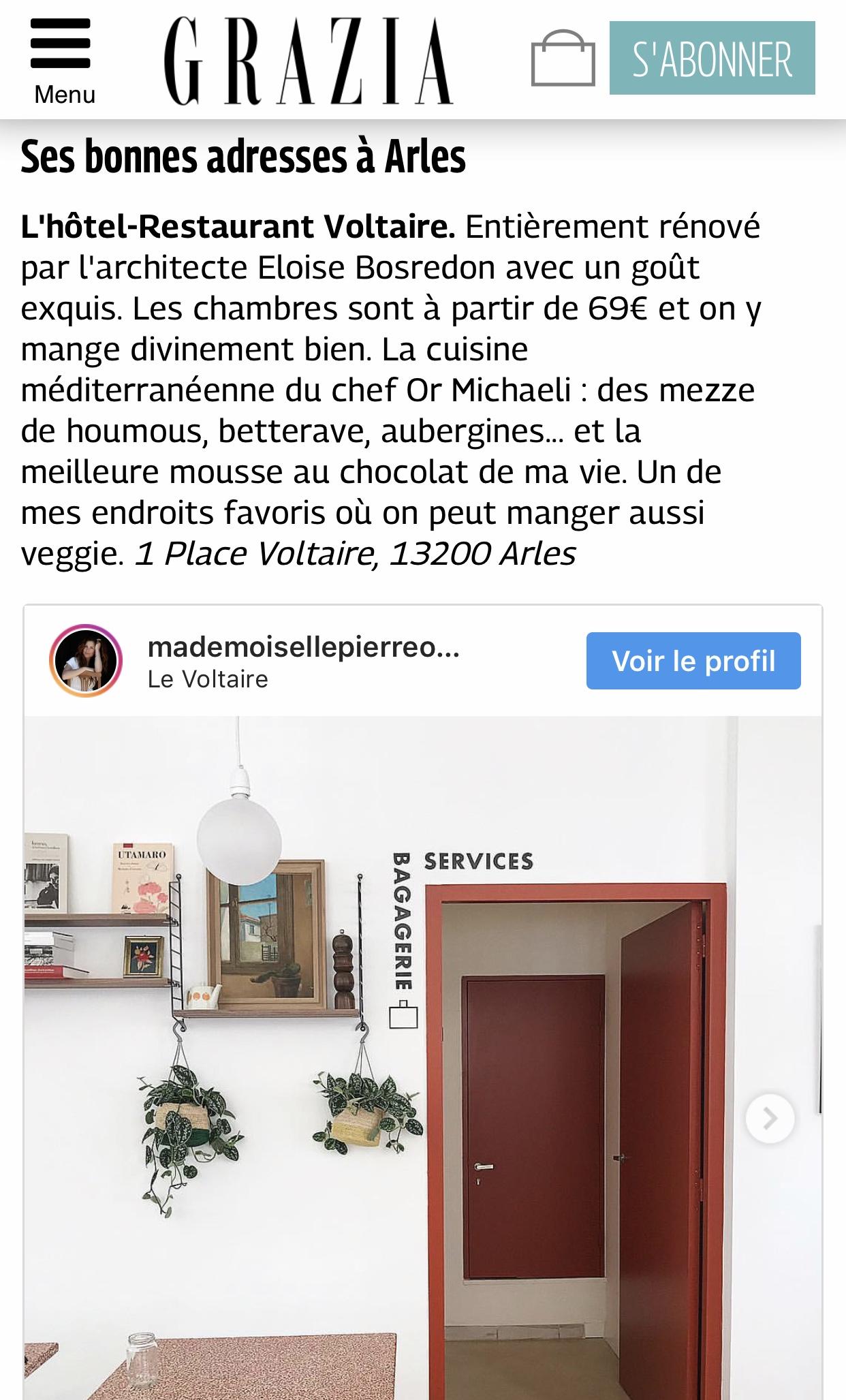 Grazia Hotel Voltaire