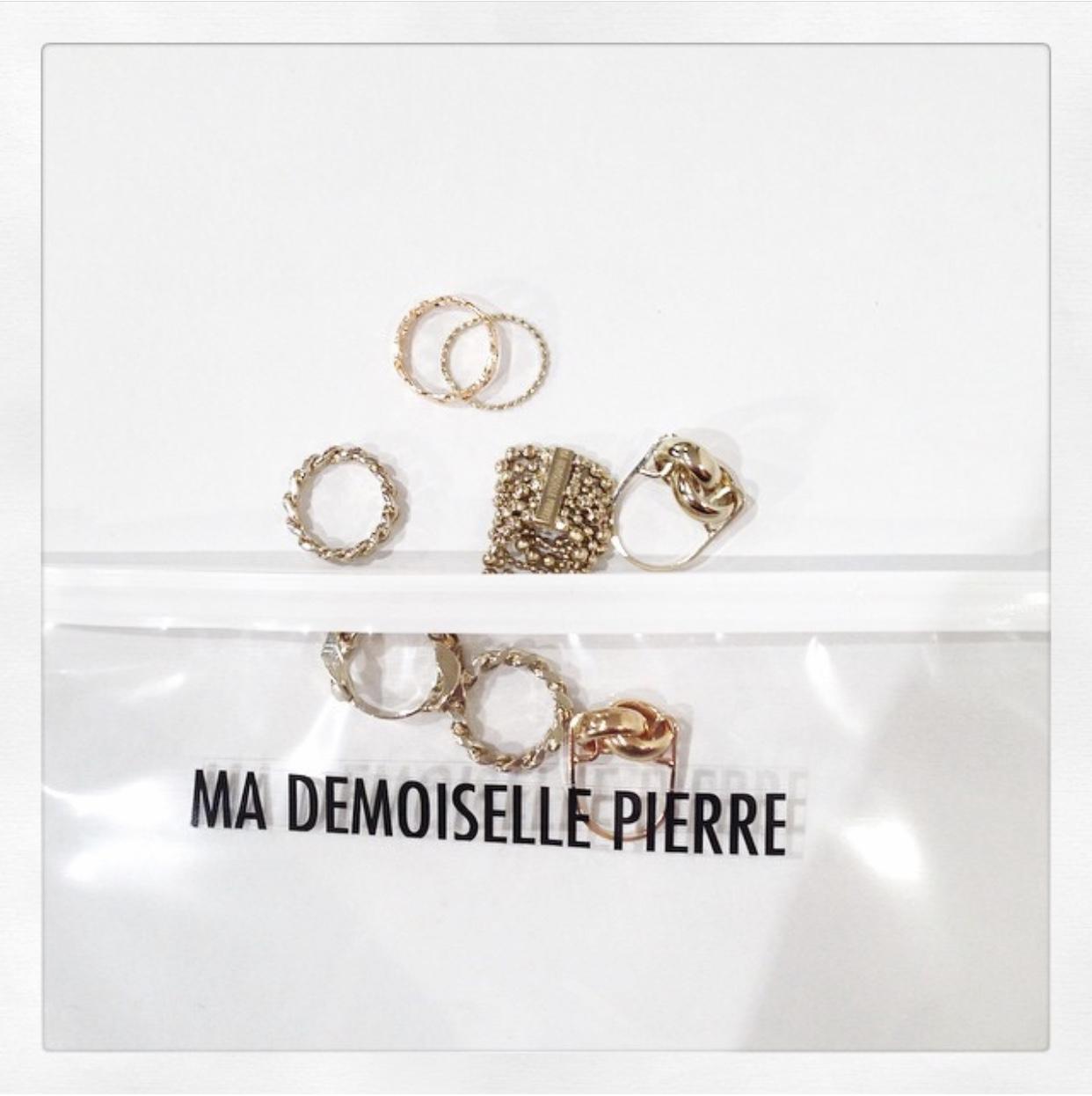 Ma Demoiselle Pierre - les bagues