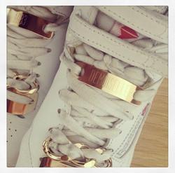 Bijoux de baskets plaqués or