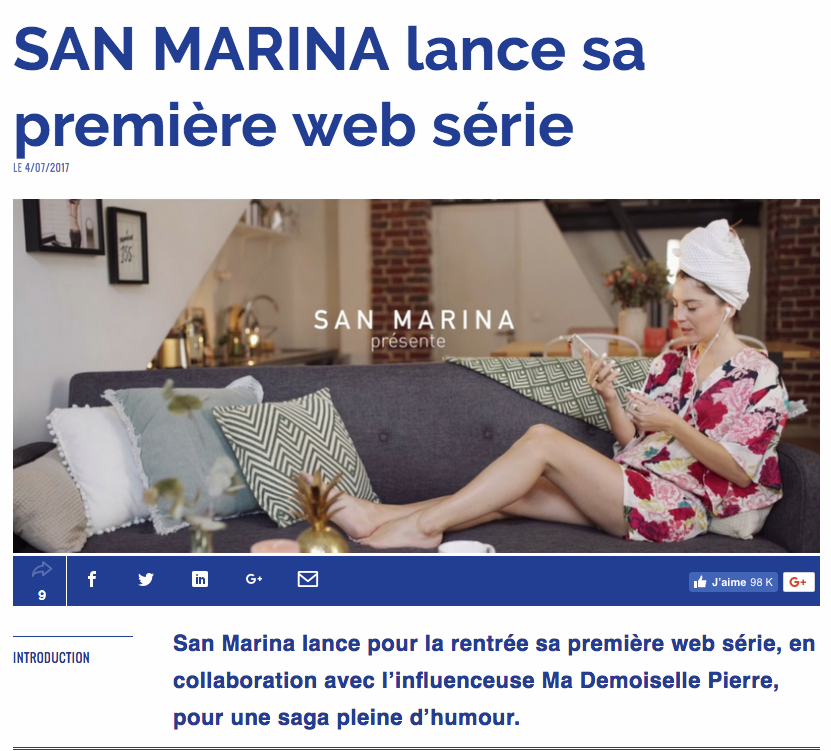 LA WEB SERIE San Marina x Ma demoiselle