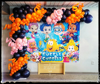 Bubble Guppy Balloon Garland
