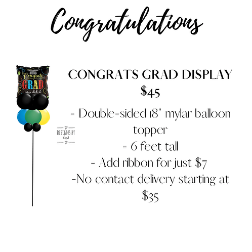 Yard Art - Congrats Grad Display