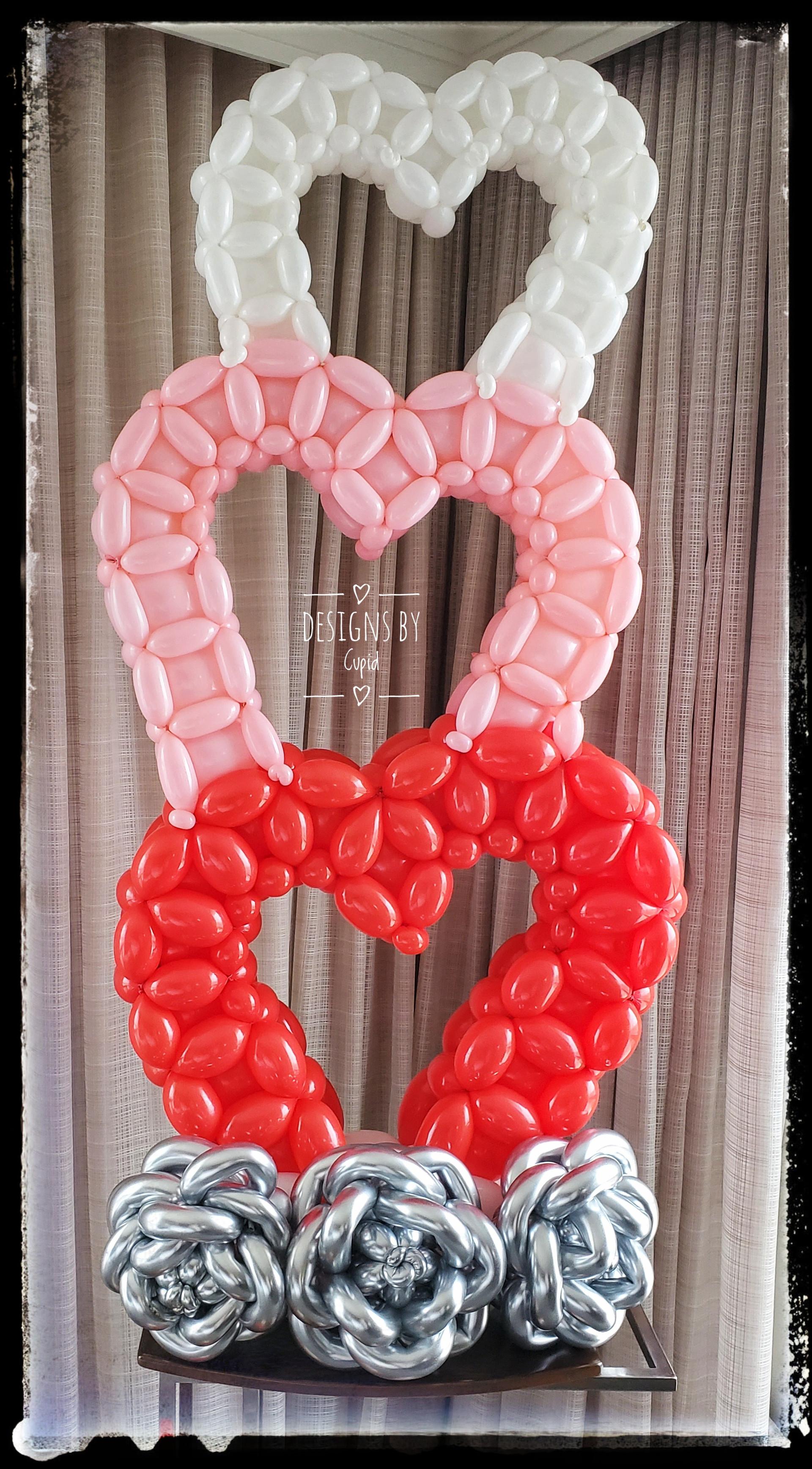 Triple Heart Balloon Sculpture