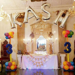 String Of Letter Balloon Arch